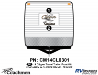 Clipper - 2014 Clipper TT-Travel Trailer - 2014 Coachmen Clipper Front Kit