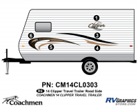 Clipper - 2014 Clipper TT-Travel Trailer - 2014 Coachmen Clipper Roadside (Left) Kit