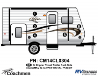 Clipper - 2014 Clipper TT-Travel Trailer - 2014 Coachmen Clipper Curbside (Right) Kit