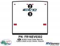 EVO - 2016 EVO TT-Travel Trailer - 2016 EVO TT-Travel Trailer Rear Graphics Kit