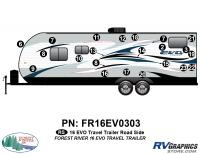 EVO - 2016 EVO TT-Travel Trailer - 2016 EVO TT-Travel Trailer Roadside Graphics Kit