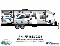 EVO - 2016 EVO TT-Travel Trailer - 2016 EVO TT-Travel Trailer Curbside Graphics Kit
