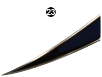 Wildwood X-Lite - 2016 Wildwood X-Lite TT-Travel Trailer - Rear Print Fang-CS (Curbside) RH/PS