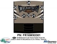 Wildwood X-Lite - 2016 Wildwood X-Lite TT-Travel Trailer - 8 Piece 2016 Wildwood X-Lite Front Graphics Kit