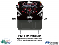 2013 Vengeance SS Fifth Wheel Front Graphics Kit