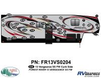 Vengeance - 2013 Vengeance Fifth Wheel - 2013 Vengeance SS Fifth Wheel Curbside Graphics Kit