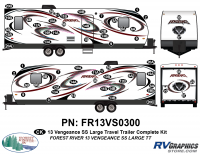 Vengeance - 2013 Vengeance Large Travel Trailer - 2013 Vengeance SS Large Trailer Complete Graphics Kit