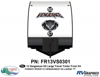 Vengeance - 2013 Vengeance Large Travel Trailer - 2013 Vengeance SS Large Trailer Front Graphics Kit