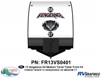 Vengeance - 2013 Vengeance Medium Travel Trailer - 2013 Vengeance SS Medium Trailer Front Graphics Kit