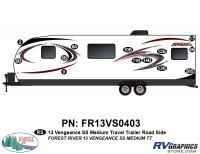 Vengeance - 2013 Vengeance Medium Travel Trailer - 2013 Vengeance SS Medium Trailer Roadside Graphics Kit