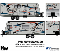 Nash - 2016-2017 Nash TT-Travel Trailer - 2016 Nash Travel Trailer Complete Graphics Kit