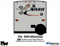 Nash - 2016-2017 Nash TT-Travel Trailer - 2016 Nash Travel Trailer Rear Graphics Kit