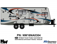 Nash - 2016-2017 Nash TT-Travel Trailer - 2016 Nash Travel Trailer Curbside Graphics Kit