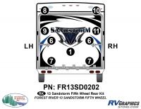 Sandstorm - 2013-2014 Sandstorm FW-Fifth Wheel - 2013 Sandstorm FW Rear Graphics Kit
