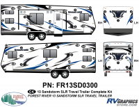 Sandstorm - 2013-2014 Sandstorm Lg TT-Large Travel Trailer - 2013 Sandstorm SLR Lg TT Complete Graphics Kit