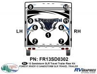 Sandstorm - 2013-2014 Sandstorm Lg TT-Large Travel Trailer - 2013 Sandstorm SLR Lg TT Rear Graphics Kit