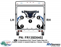 Sandstorm - 2013-2014 Sandstorm Med TT-Medium Travel Trailer - 2013 Sandstorm SLC Med TT Rear Graphics Kit