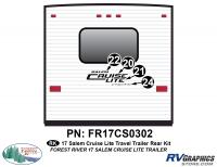 Salem Cruise Lite - 2017-19 Salem Cruise Lite TT-Travel Trailer - 58 Piece 2017 Salem Cruise Lite Rear Graphics Kit