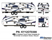 2012 Outback Travel Trailer Complete Graphics Kit