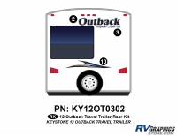 Outback - 2012 Outback TT-Travel Trailer - 2012 Outback Travel Trail Rear Graphics Kit