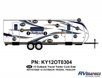 Outback - 2012 Outback TT-Travel Trailer - 2012 Outback Travel Trail Curbside Graphics Kit