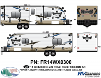 2014 Wildwood X-Lite Travel Trailer Complete Graphics Kit