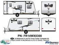 Wildwood X-Lite - 2014 Wildwood X-Lite FS Edition TT-Travel Trailer - 2014 Wildwood X-Lite FS Edition TT Complete Graphics Kit
