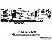 Fuzion - 2012 Fuzion FW-Fifth Wheel HP (High Profile) - 2012 Fuzion FW HP Curbside Kit
