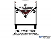 2013 Fuzion TT (Travel Trailer) Rear Graphics Kit