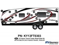2013 Fuzion TT (Travel Trailer) Roadside Graphics Kit