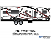 2013 Fuzion TT (Travel Trailer) Curbside Graphics Kit