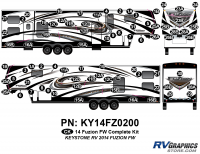 Fuzion - 2014 Fuzion FW-Fifth Wheel - 2014 Fuzion FW- Fifth Wheel Complete Graphics Kit