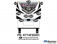 Fuzion - 2014 Fuzion FW-Fifth Wheel - 2014 Fuzion FW- Fifth Wheel Front Graphics Kit