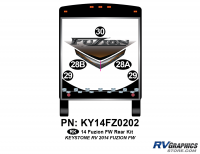 2014 Fuzion FW- Fifth Wheel Rear Graphics Kit