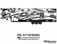 2014 Fuzion FW- Fifth Wheel Roadside Graphics Kit