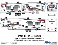 40 Piece 2011 Bighorn Fifth Wheel Complete Graphics Kit