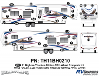 41 Piece 2011 Bighorn Titanium Edition Fifth Wheel Complete Graphics Kit