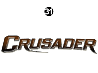 Crusader - 2013 Crusader FW-Fifth Wheel Brown Cap - Front Brown Crusader Logo