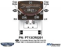 Crusader - 2013 Crusader FW-Fifth Wheel Brown Cap - 11 Piece 2013 Crusader FW Brown Front Graphics Kit