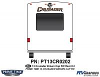 1 Piece 2013 Crusader FW Brown Rear Graphics Kit