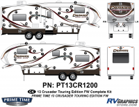 Crusader - 2013 Crusader FW-Fifth Wheel Touring Edition - 51 Piece 2013 Crusader FW Tour Edition Complete Graphics Kit