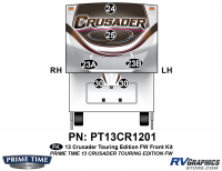 Crusader - 2013 Crusader FW-Fifth Wheel Touring Edition - 6 Piece 2013 Crusader FW Tour Edition Front Graphics Kit