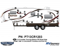 Crusader - 2013 Crusader FW-Fifth Wheel Touring Edition - 22 Piece 2013 Crusader FW Tour Edition Roadside Graphics Kit