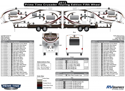 Prime Time - Crusader - 2013 Crusader FW-Fifth Wheel Touring Edition