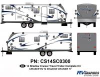 Shadow Cruiser - 2014 Shadow Cruiser TT-Travel Trailer - 48 Piece 2014 Shadow Cruiser Travel Trailer Complete Graphics Kit