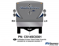 Shadow Cruiser - 2014 Shadow Cruiser TT-Travel Trailer - 6 Piece 2014 Shadow Cruiser Travel Trailer Front Graphics Kit
