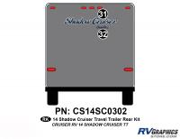 Shadow Cruiser - 2014 Shadow Cruiser TT-Travel Trailer - 2 Piece 2014 Shadow Cruiser Travel Trailer Rear Graphics Kit