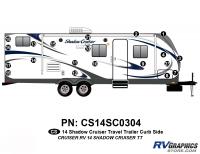 Shadow Cruiser - 2014 Shadow Cruiser TT-Travel Trailer - 20 Piece 2014 Shadow Cruiser Travel Trailer Curbside Graphics Kit