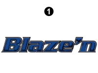 Blaze'n - 2016 Blaze'n TT-Travel Trailer Blue Version - Large Blaze'n Logo