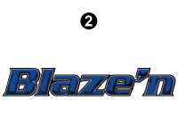 Blaze'n - 2016 Blaze'n TT-Travel Trailer Blue Version - Small Blaze'n Logo
